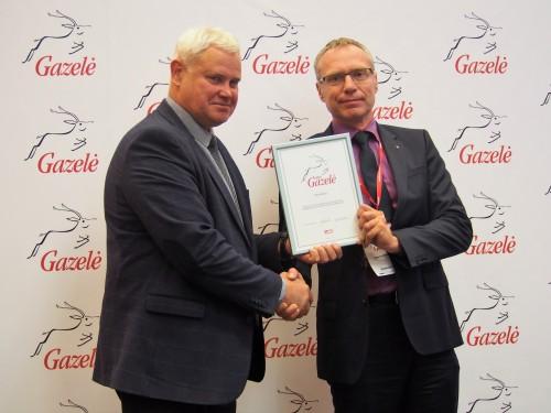 Gautas apdovanojimas Gazelė 2016 už spartų įmonės augimą bei viešumą